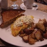 King Salmon Restaurant - the Alaskan King Crab and Newburg Omelette with toast