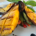 roasted mango :-) great starter