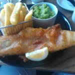 Lovely presented fish and chips