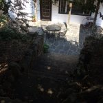 Outside Dining or Porch Area with Vintage Rock Steps