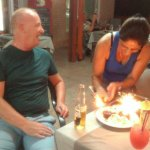 Birthday surprise from Irene and her staff at old windmill faliraki,lovely people and lovely sta