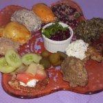 Zakouski: assortiment d'entrées délicieuses