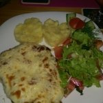 Parmesan Chicken with Love Heart Mash Potatoes