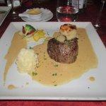 Beef with foie gras sauce