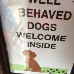 Well behaved dogs are welcomed