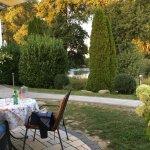 inside garden / restaurant