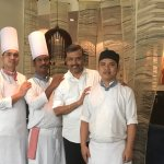 With the Chef Brigade .............2