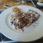 Banoffee Pie. Eat this and be prepared for hours in the confessional
