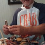 Crab platter with the sides...again, mother-in- law brought the bib!