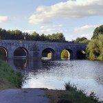 Le pont de Roc Saint André : vue prise devant le camping