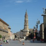 Zaragoza main square and cathedral