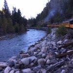The Durango Silverton Narrow Gauge Railroad and the Animas River