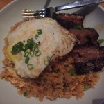 Pork belly with rice and egg