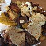 Salvadorian sampler. Feast fit for a family of four!