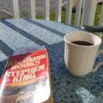 Morning coffee and book on the patio