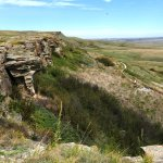 Site of a buffalo jump near the museum