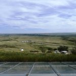 View of the prairies from the top of the museum