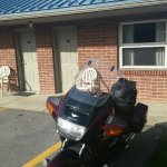 Convient motorcycle parking adjacent to the rooms!