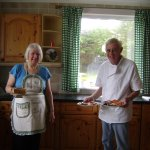 Phil & Pauline with our wonderful breakfast
