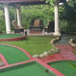 They have a mini golf and a kids room