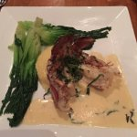 Lobster Tail with Baby Bok Choy. The sauce was to-die-for!