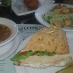 1/2 sandwich (rosemary turkey) w/ salad & soup for under $11 so much food!