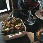 Artichoke & Spinach bread pudding