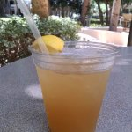 Outdoor restaurant and a pool bar - thank you the iced tea with a kick. Sweet.