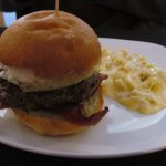 The Fancy Burger and Mac' and Cheese...Good Combination