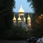 Russian Orthodox Church from Neroberg park at twilight