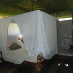 One bedroom with private bath at Tahuayo Lodge.