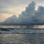 Rain on the horizon from Lola's at Avellanas