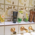 Nutrimetics products in bathroom