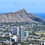 The view of Diamond Head on the road up Tantalus to Puu Ualakaa State Park.