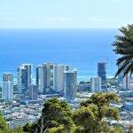 A telephoto view of Waikiki Ala Moana from Puu Ualakaa State Park.