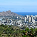 Diamond Head, Honolulu and Waikiki from Puu Ualakaa State Park