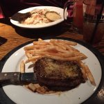 Joe Bear's Peppered Sirloin Steak Dinner with Ghetto steak Fries from Ruby River Steakhouse