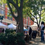 Farmers Market in Troy,NY offers samples of local honey,cheese,salsas,pickles,baked goods w/ mus