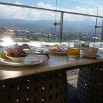 breakfast at 18 floor, mountain view