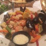 Shellfish & fresh vegetable medley