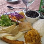 Fancy version of traditional Costa Rican meal offered at the Falls Resort