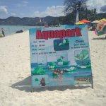 Aquapark sign