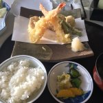 Tempura set. (My daughter already ate oner shrimp.)