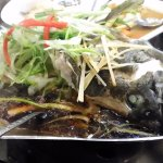 Steamed fish with soy sauce