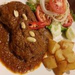 Massaman beef steak. Yummy!