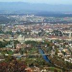 Aussicht vom Gurten auf die Stadt Bern