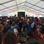 Bestival 2016 - Giant TV showing highlights from the event for our guests waiting to return home