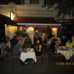 Dining outside the Anacapri is very romantic in summer time