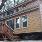 The large cabin sleeps 8