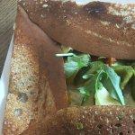 Galette...Crêpe aus 95% Buchweizen mit gegrilltes Gemüse. Mmmm c' est bon!